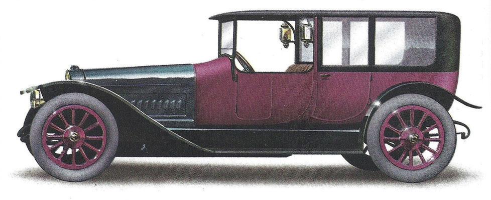 Een Brasier 30 pk uit 1913.