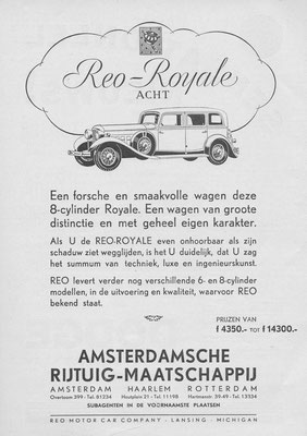 Advertentie REO-Royale