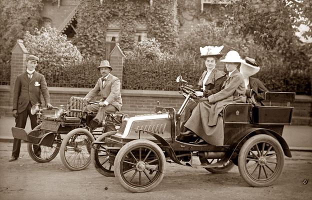 Darracq Quadricycle uit 1900.