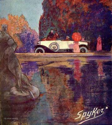 Reclame voor Spyker uit 1921.
