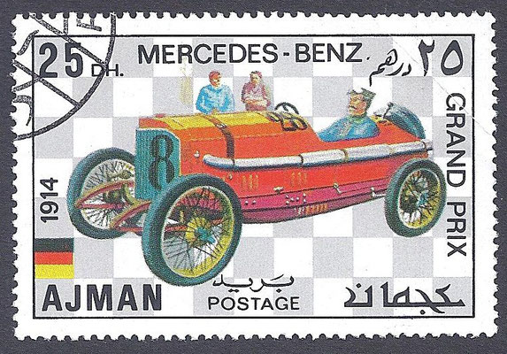 Postzegel Ajman (Verenigde Arabische Emiraten).