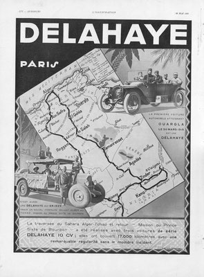 Advertentie Delahaye in l'Illustration 1931.