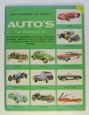 Auto's van vroeger en nu. Encyclopedie in zegels. Uitgegeven in 1963 door de Zuid-Nederlandse Uitgeverij.