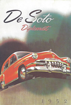 Reclame voor de DeSoto Diplomat uit 1952.