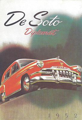 Reclame DeSoto Diplomat uit 1952.