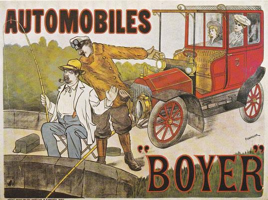 Affiche van het Franse merk Boyer (1898-1906).