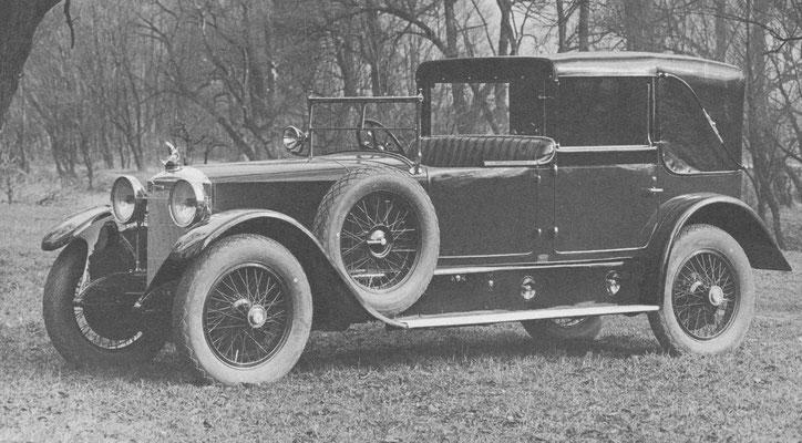 Austro-Daimler ADV uit 1926 met een carrosserie van Keibl uit Wenen.