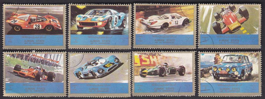 Postzegels Ajman (Verenigde Arabische Emiraten).