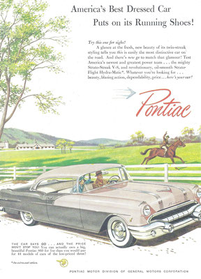 Advertentie voor Pontiac.