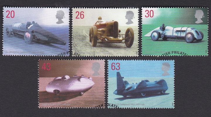 Postzegels Groot-Brittannië uit 1998.