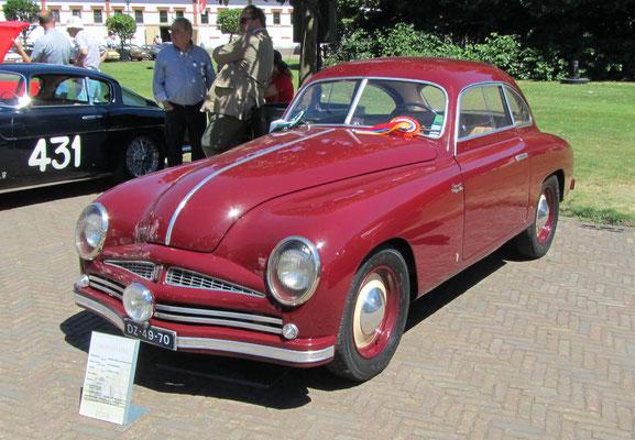 Fiat Stanguellini Berlineta Coupé uit 1951 (Concours d'Élégance 2018 op Paleis Het Loo in Apeldoorn).