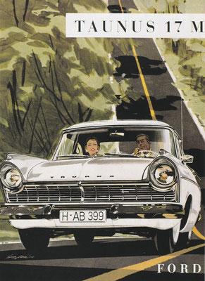 Reclame van Ford voor de Taunus 17M.