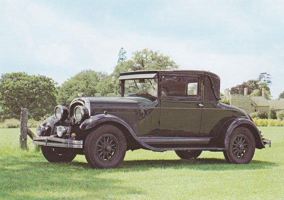 Chrysler model 70 coupé uit 1927.