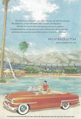 Een advertentie voor Plymouth.