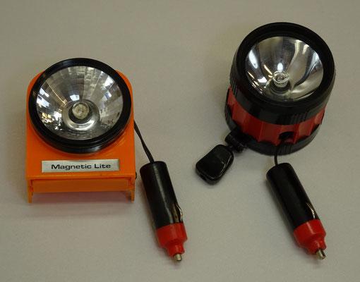 Magnetische pechlampen met oprolbaar snoer.
