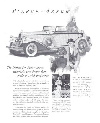 Advertentie van Pierce-Arrow.