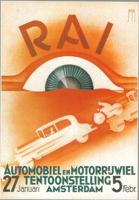 Een affiche voor de RAI 1933.