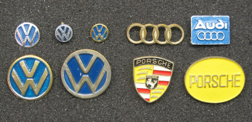 Volkswagen, Audi en Porsche speldjes.