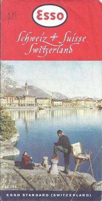 Kaart Esso Standard, Zwitserland, 1953.