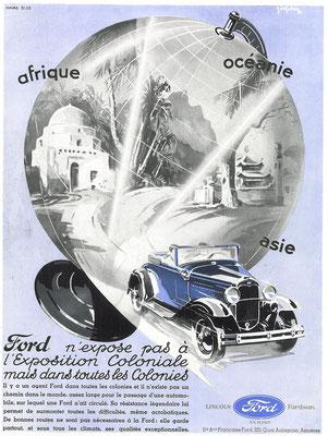 Een Franse advertentie van Ford.