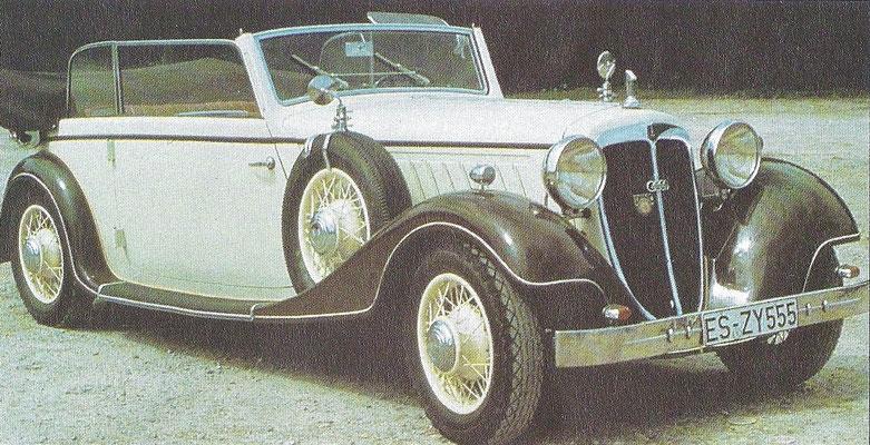 Audi UW 225 zescilinder uit 1937.