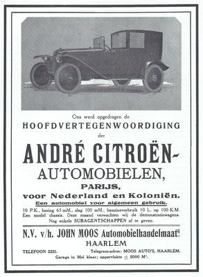Een Nederlandse advertentie voor Citroën.