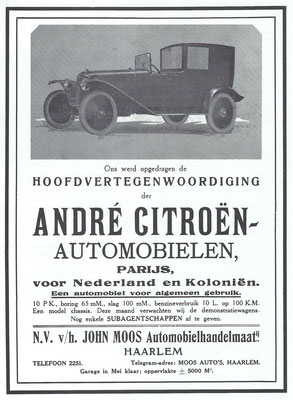 Nederlandse advertentie voor Citroën.