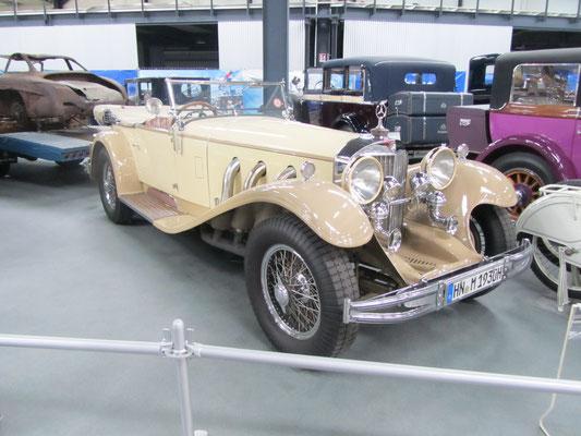 Mercedes Benz 710 SS uit 1930. (Technik Museum Sinsheim)