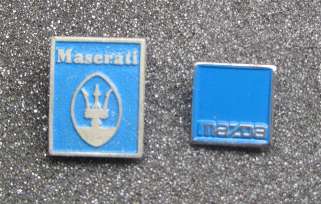 Maserati en Mazda speldjes.