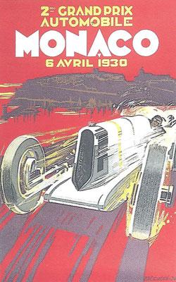Een affiche voor de Grand Prix van Monaco in 1930.