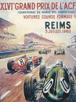 Affiche voor de Grand Prix van Reims in 1960.