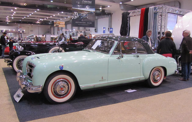 Nash-Healey Le Mans uit 1953. (Interclassics Brussels 2018)