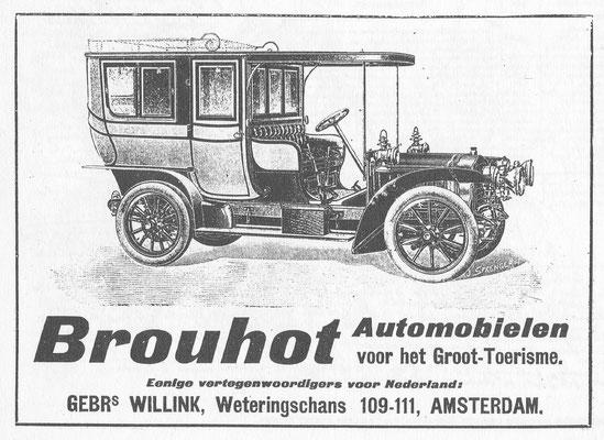 Nederlandse advertentie voor Brouhot uit 1906.