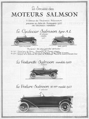 Advertentie Salmson in l'Illustration 1922.