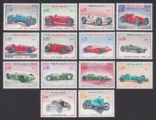 Postzegels Monaco uit 1967.