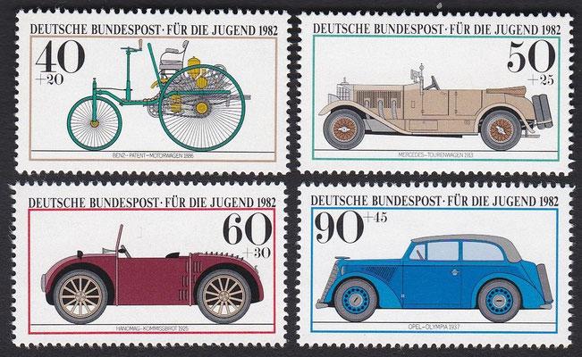 Postzegels Duitsland uit 1982.