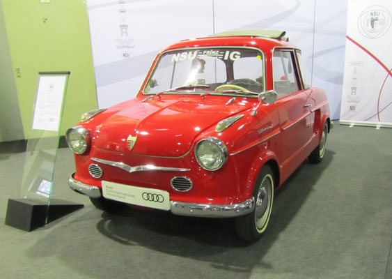 NSU Prinz II (Typ 40) uit 1958. (Techno Classica 2018 in Essen)