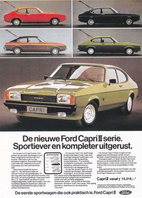 Reclame van Ford voor de Capri II.
