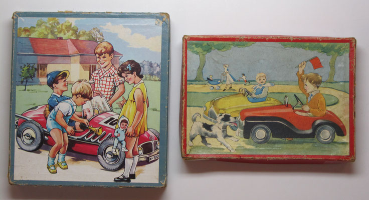 Puzzles van Kolibri met kinderen en speelgoedauto's.