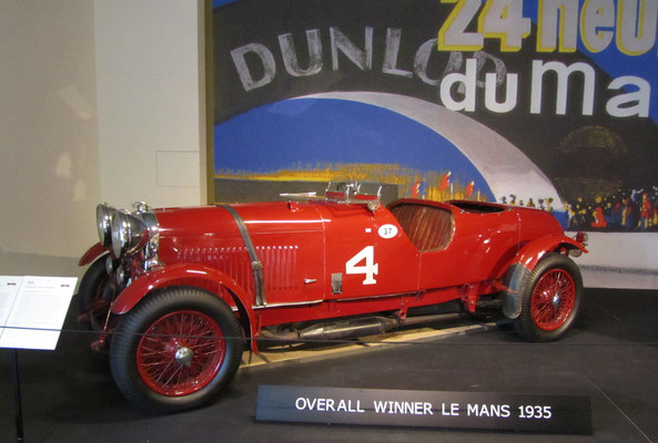 Lagonda M45R, winnaar Le Mans in 1935. (Louwman Museum in Den Haag)
