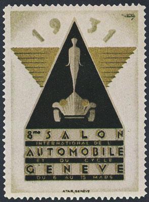Sluitzegel Automobieltentoonstelling Geneve 1931.