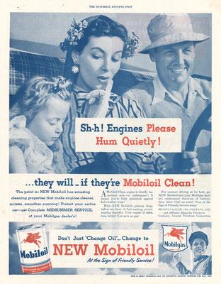 Reclame van Mobiloil.