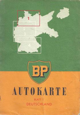 Autokarte BP, Deutchland Blatt 1 (Dit BP logo werd gebruikt van 1947 tot 1958).
