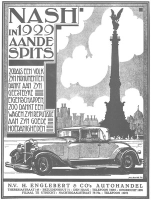 Een Nederlandse advertentie voor Nash uit 1929.