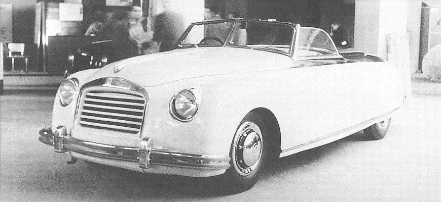 Een Isotta Fraschini 8C Monterosa cabriolet, gebouwd door Boneschi.