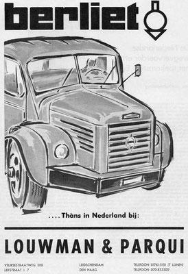 Een advertentie voor Berliet uit 1961.