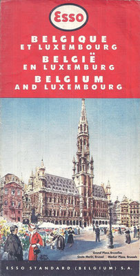 Kaart Esso Standard, België en Luxemburg.