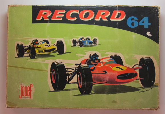 Autoracebaan Record 64. Circuit Routier Electrique. Uitgave: Jouef.