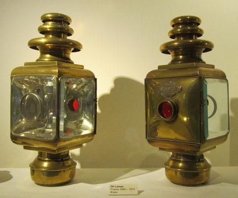 Olielampen Blériot (Louwman Museum).