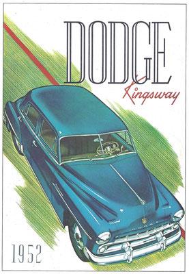 Reclame uit 1952 voor de Dodge Kingsway.